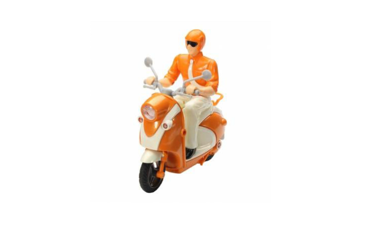 Mini Chargeable Infrared RC Motorcycle Orange Color