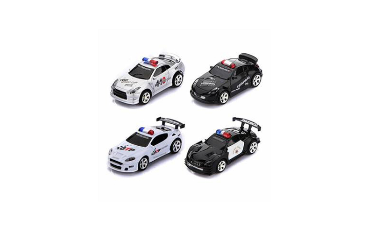 Mini RC Racing Police Car Siren LED Children Toy