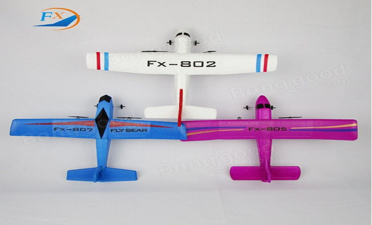 Fly Bear FX-802 FX-805 FX-807 2.4G 2CH 310mm RC Glider Airplane