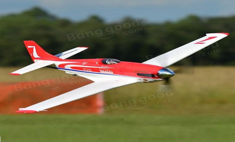 rc-airplanes-RocHobby Strega P-51 Sport Racer 1070mm Wingspan PNP-RocHobby Strega P 51