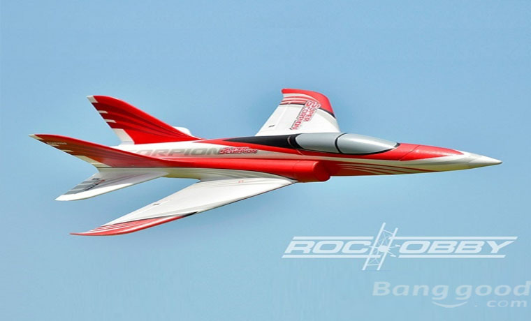 RocHobby Super Scorpion 70mm EDF Jet EPO Red PNP