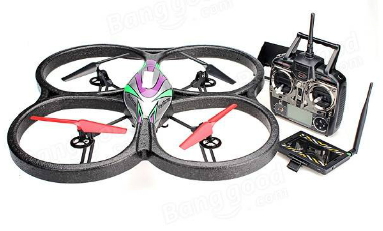 WLtoys V666 RC Quadcopter With HD Camera Monitor