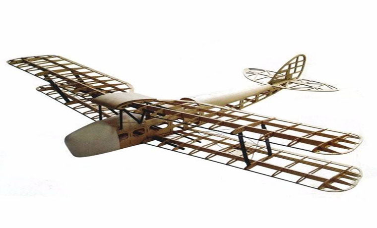 De Havilland DH82a Tiger Moth Biplane 1400mm Wingspan Balsa Kit