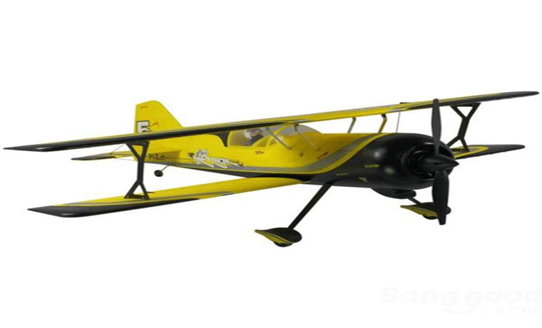 "Dynam Pitts Model 12 Yellow 1070mm 42"" Wingspan RC Airplane PNP"