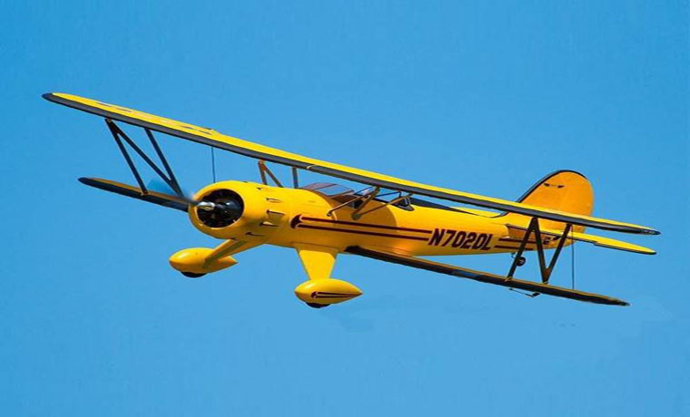 Dynam Waco Yellow 1270mm 50inch Wingspan RC Warbird PNP