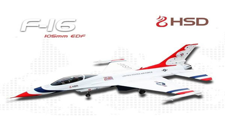 HSD F-16 Thunderbirds 105mm EDF PNP With Stabilizer