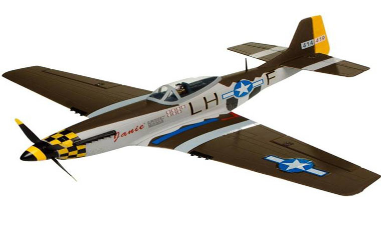 North American P-51D Mustang 680mm Wingspan Warbird KIT