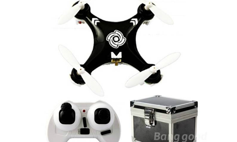 rc-quadcopters-Cheerson CX10A 6 Axis RC Quadcopter Mode 2 Black + Gift Box-Cheerson CX10A