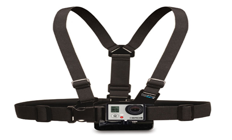 Adjustable Chest Mount Harness For GoPro And SupTig DV Camera