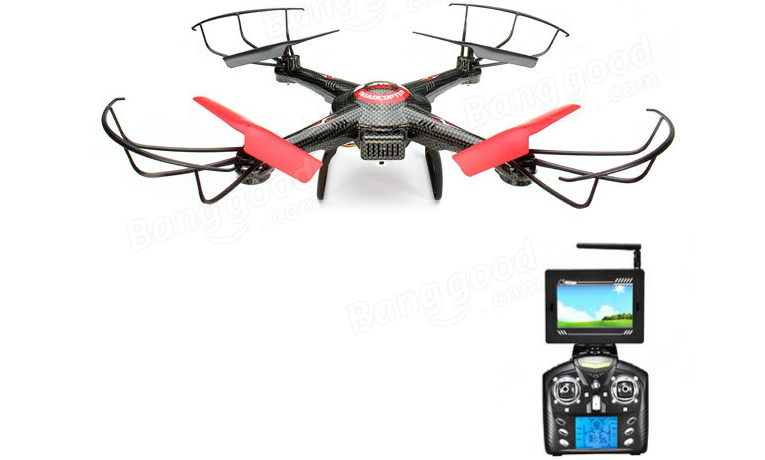 JJRC V686 Headless Mode RC Quadcopter with HD Camera Monitor