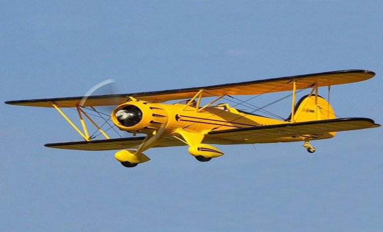 RocHobby Waco Yellow 1030mm Wingspan Biplane RC Airplane PNP