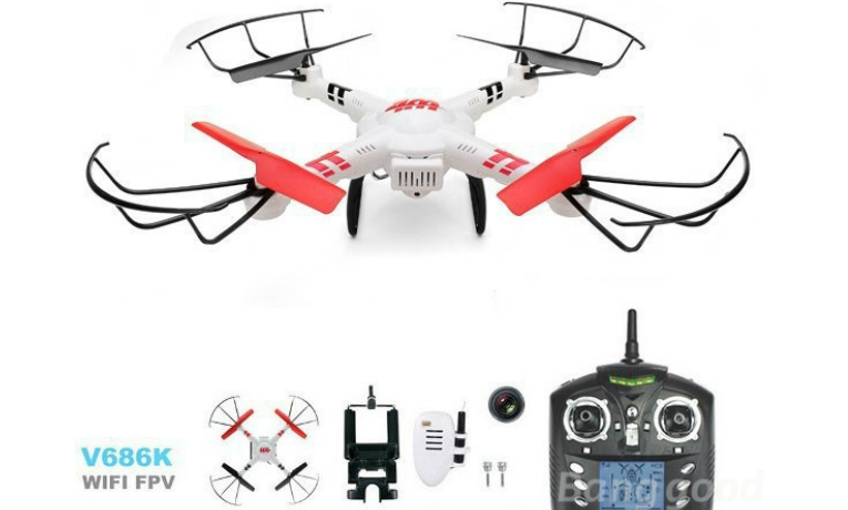 rc-quadcopters-WLtoys V686K WIFI FPV Headless RC Quadcopter with Camera-WLtoys V686K