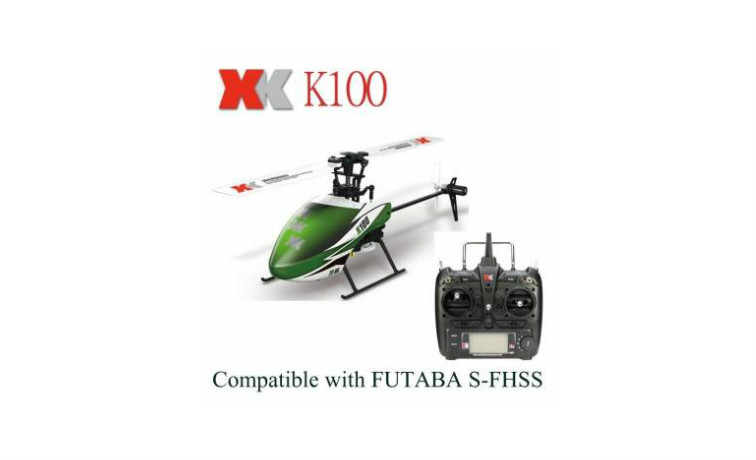 XK K100 Falcom 6CH Flybarless 3D6G RC Helicopter