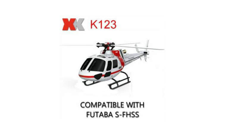XK K123 6CH Brushless AS350 Scale 3D6G RC Helicopter