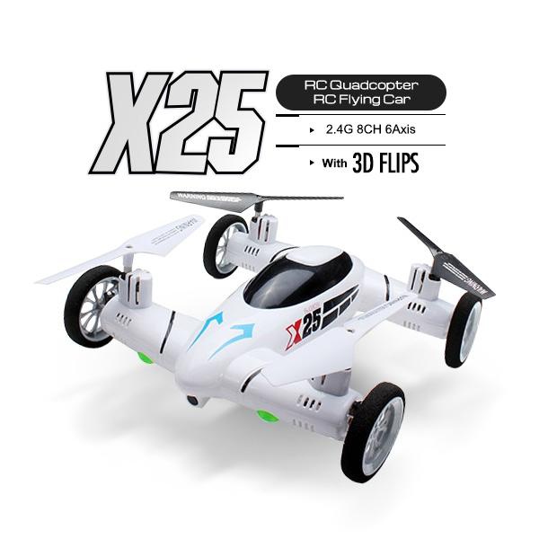 SY X25 3D Flips RC Quadcopter Land Sky 2 in 1 RTF