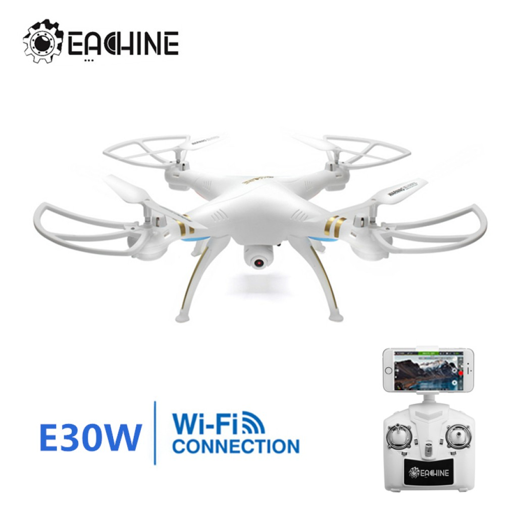 rc-quadcopters-Eachine E30W Headless Mode RC Quadcopter-Eachine E30W WIFI FPV With 720p Camera 2.4G 4CH 6 Axis Headless Mode RC Quadcopter RTF 1024x1024