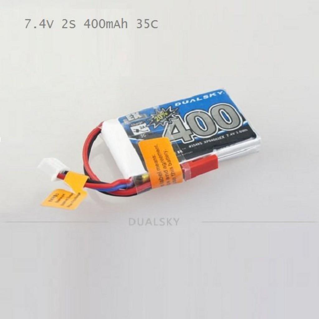 batteries-Dualsky EX 7.4V 2S 400mAh 35C 800mAh 25C JST Lipo Battery-SKU220413 1 1024x1024