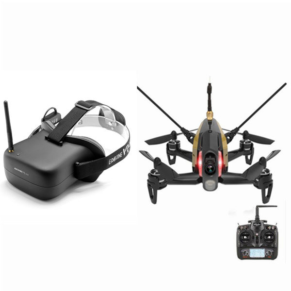 Walkera Rodeo 150 FPV Racing Drone RTF with Eachine VR-007 VR007 5.8G 40CH HD FPV Goggles