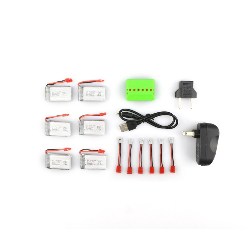 Syma X5HC X5HW RC Quadcopter 6Pcs Battery + Charger Set X6A-A12