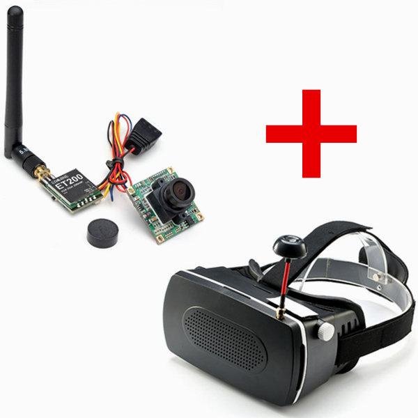 Eachine CCD 700tvl 148° Camera FPV Transmitter w/ UFO FPV DIY 5 Inch Goggles