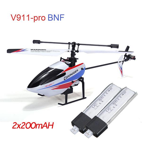 WLtoys V911-pro V911-V2 4CH Helicopter & Batteries