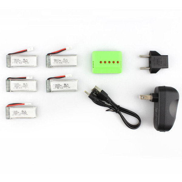 Battery With Charger for Hubsan X4 H107P RC Quadcopter X5A-A11