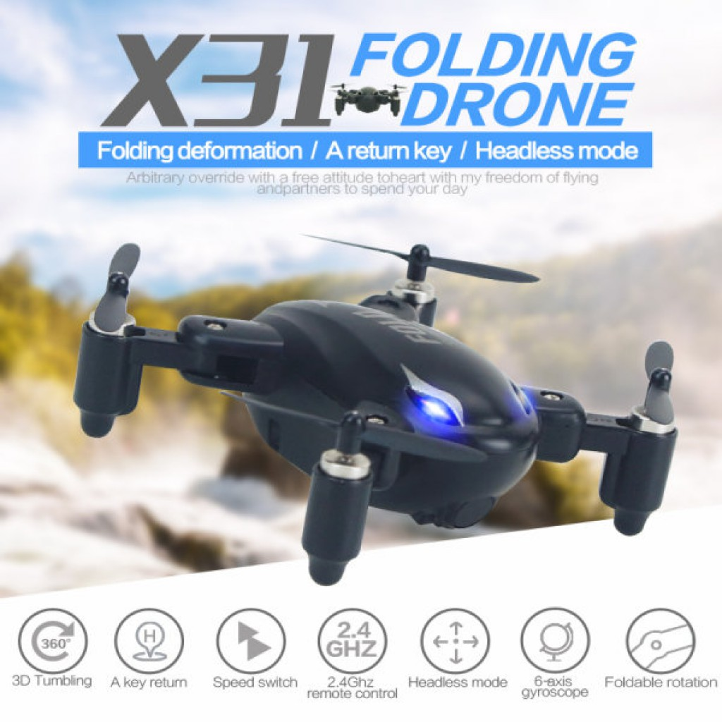 SY X31 With Foldable Arm Mini 2.4G 4CH Headless Mode RC Quadcopter RTF