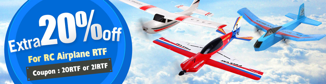 Collection Extra 20% Off for RC Airplane RTF at Banggood
