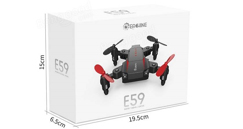rc-quadcopters-Overview of Eachine E59 Mini RC Quadcopter RTF-Eachine E59 Package Included