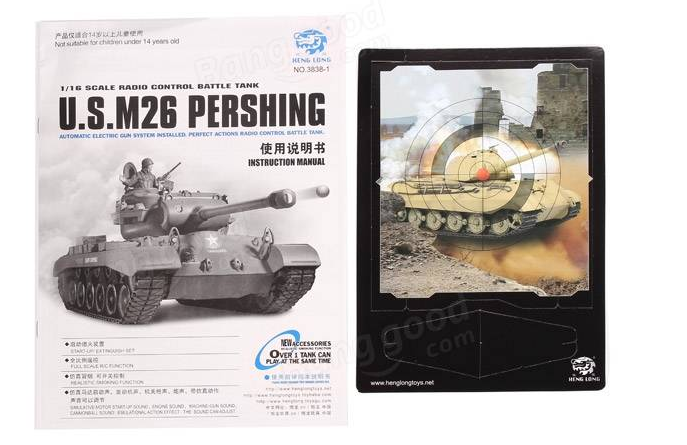 rc-toys, rc-cars-Heng Long 1/16 2.4G 3838-1 US M26 Pershing RC Tank-Heng Long Pershing Tank 2