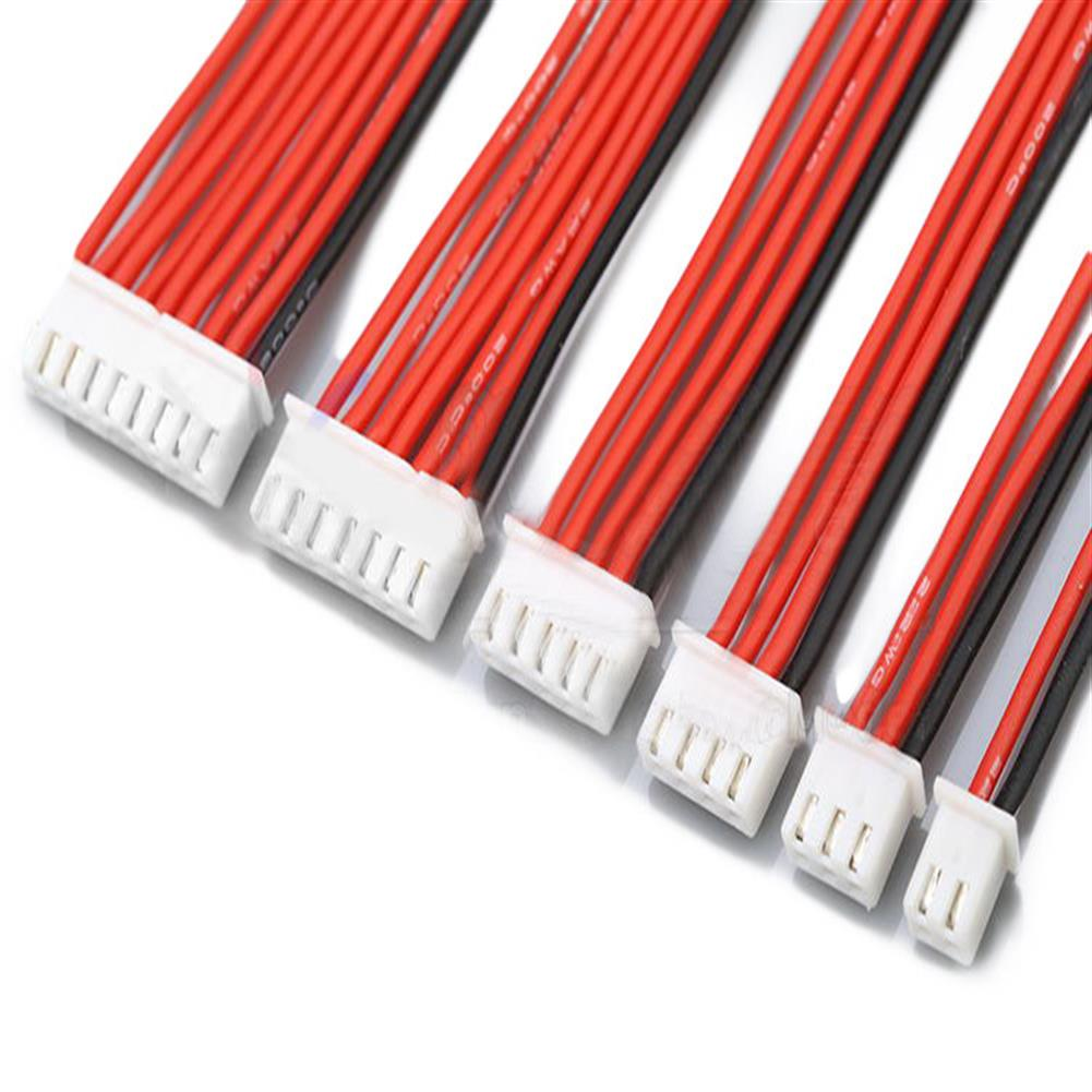 connector-cable-wire 2.54XH 22AWG 13CM 1S 2S 3S 4S 6S 8S Balance Cable Silicone Wire for Lipo Batteries RC1018898 2