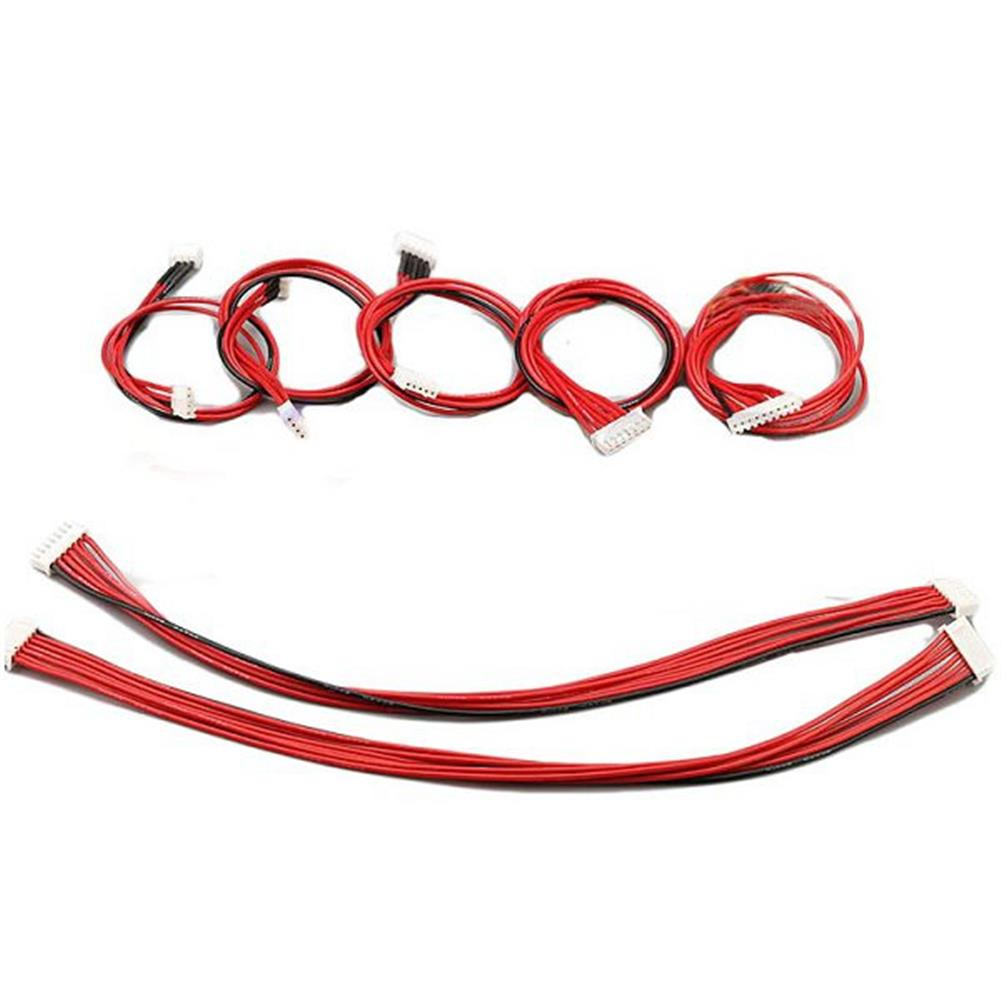 connector-cable-wire Lipo Battery Charger Silicone Wire Balance Extension Cable 2S 3Pin 3S 4Pin 4S 5Pin 6S 7Pin 8S 9Pin 2.54XH 30cm RC1022456 1