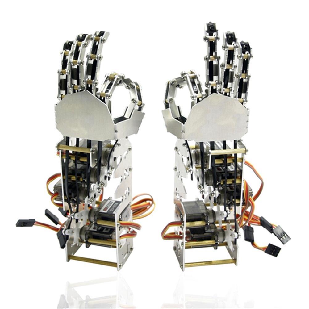 robot-arm-tank DIY 5DOF Robot Five Fingers Metal Manipulator Arm Left and Right Hand QDS-1601 RC1063112