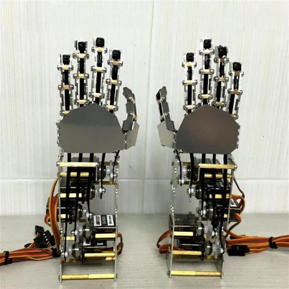 robot-arm-tank DIY 5DOF Robot Five Fingers Metal Manipulator Arm Left and Right Hand QDS-1601 RC1063112 2