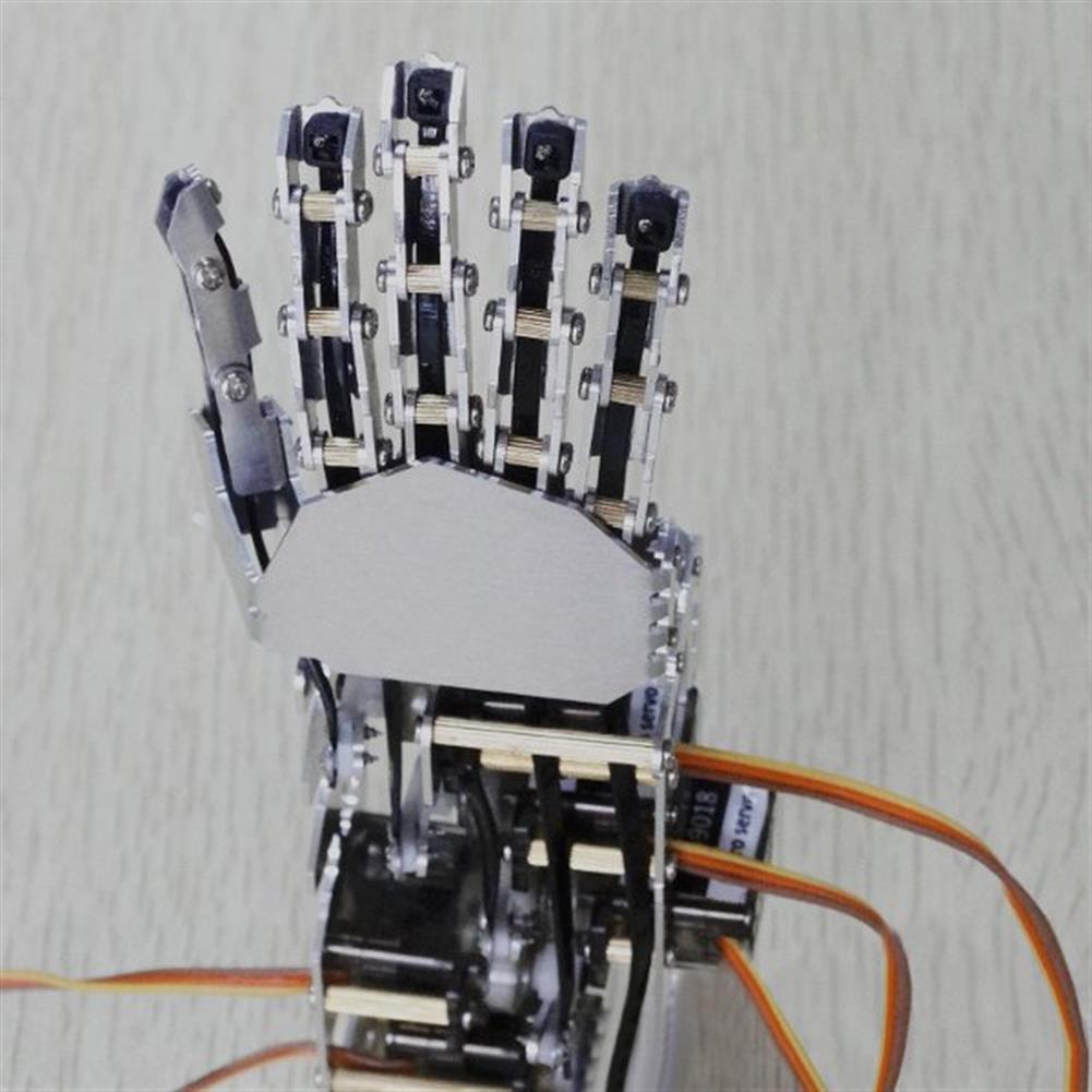 robot-arm-tank DIY 5DOF Robot Five Fingers Metal Manipulator Arm Left and Right Hand QDS-1601 RC1063112 4