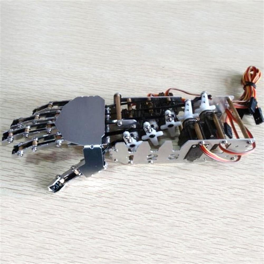 robot-arm-tank DIY 5DOF Robot Five Fingers Metal Manipulator Arm Left and Right Hand QDS-1601 RC1063112 5