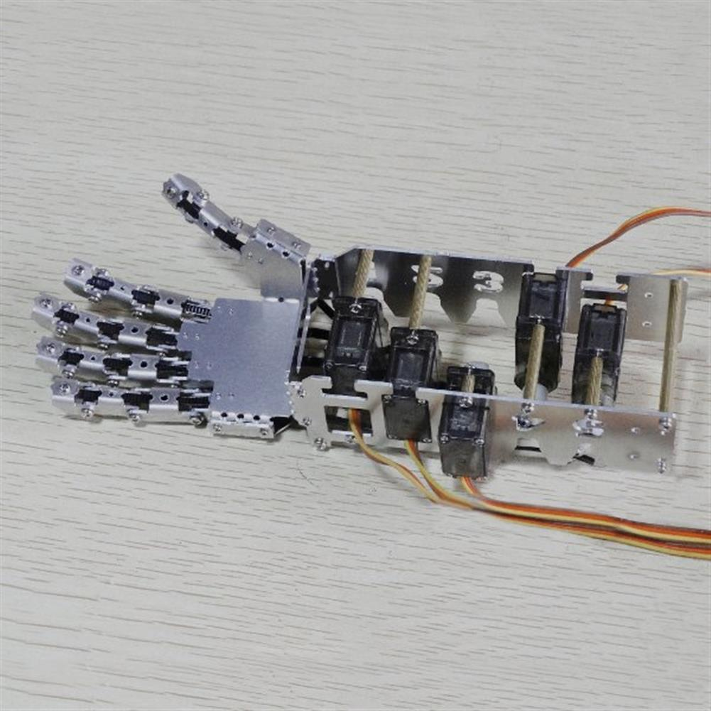robot-arm-tank DIY 5DOF Robot Five Fingers Metal Manipulator Arm Left and Right Hand QDS-1601 RC1063112 6