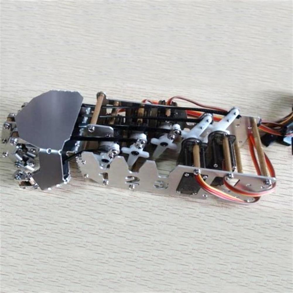 robot-arm-tank DIY 5DOF Robot Five Fingers Metal Manipulator Arm Left and Right Hand QDS-1601 RC1063112 7