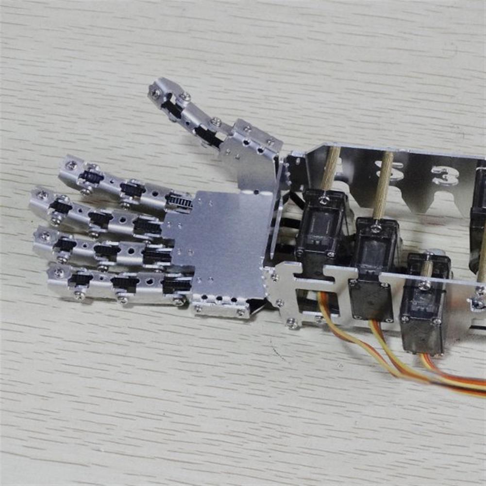 robot-arm-tank DIY 5DOF Robot Five Fingers Metal Manipulator Arm Left and Right Hand QDS-1601 RC1063112 8