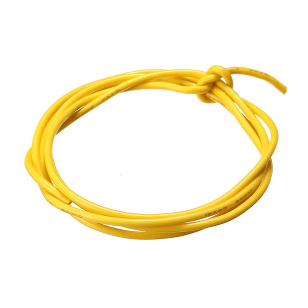 connector-cable-wire Yellow 1M 8/10/12/14/16/18/20/22/24/26/28/30 AWG Silicone Wire SR Wire RC1069988 1