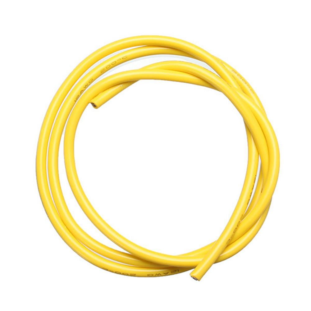 connector-cable-wire Yellow 2M 8/10/12/14/16/18/20/22/24/26 AWG Silicone Wire SR Wire RC1080327 1