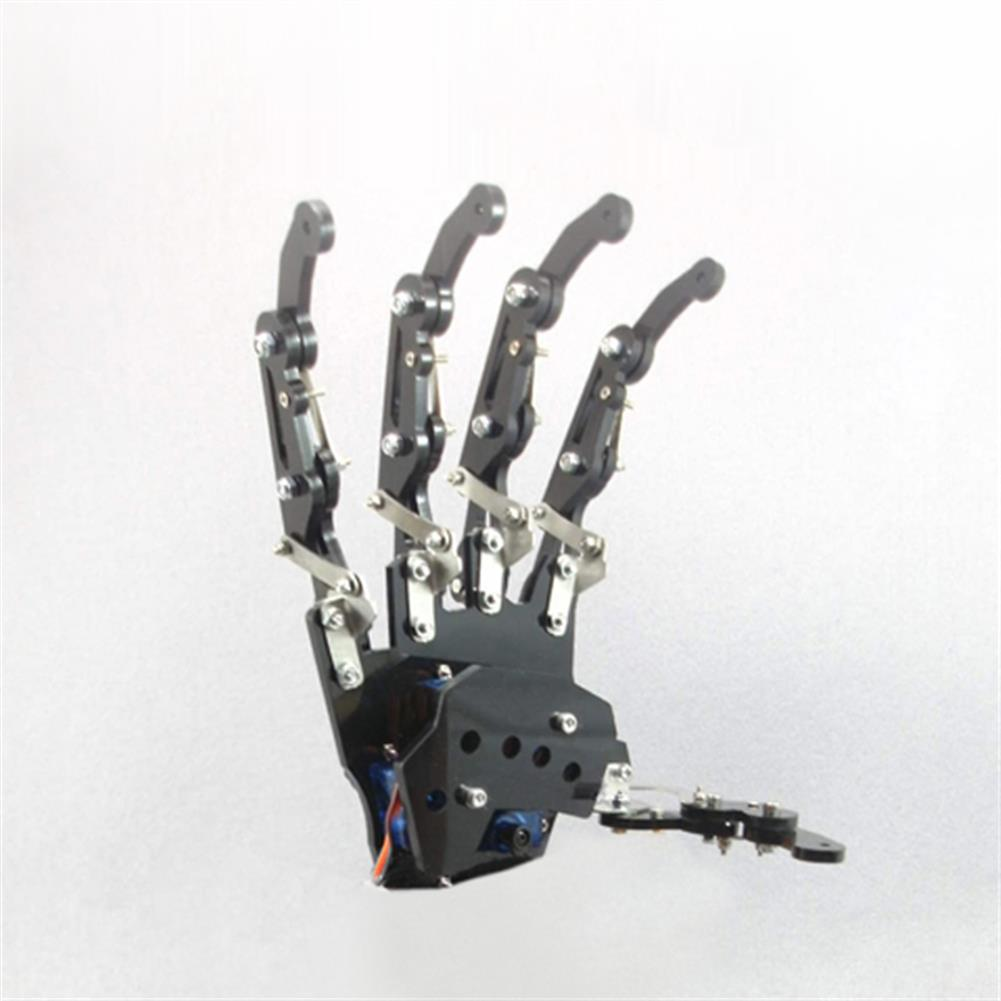 robot-arm-tank DIY 5DOF Robot Arm Five Fingers Metal Mechanical Paw Left and Right Hand RC1099018 2