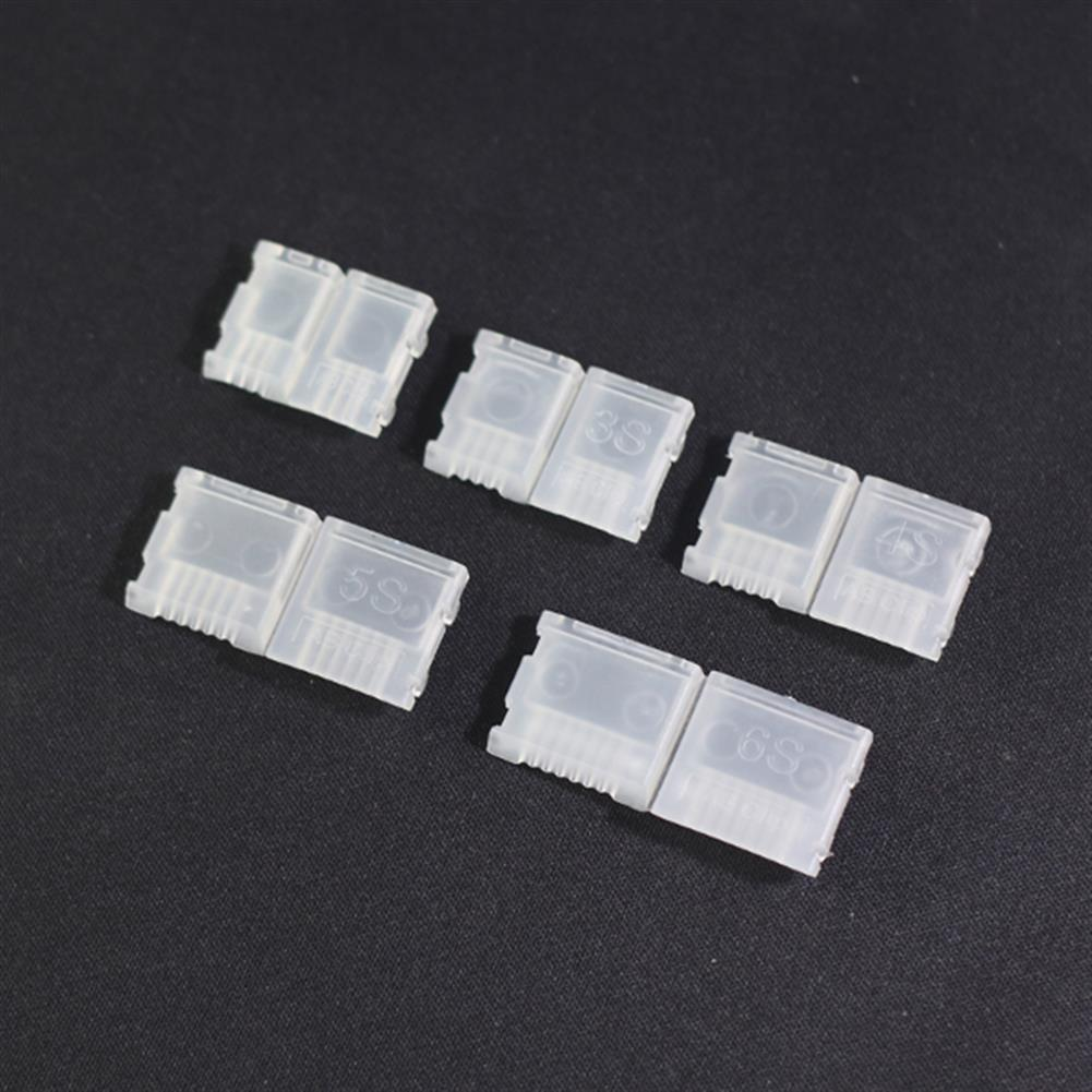 connector-cable-wire 5 PCS 2S-6S AB Clip Buckle Lipo Battery Balancing Charge Plug Protector RC1099019 2