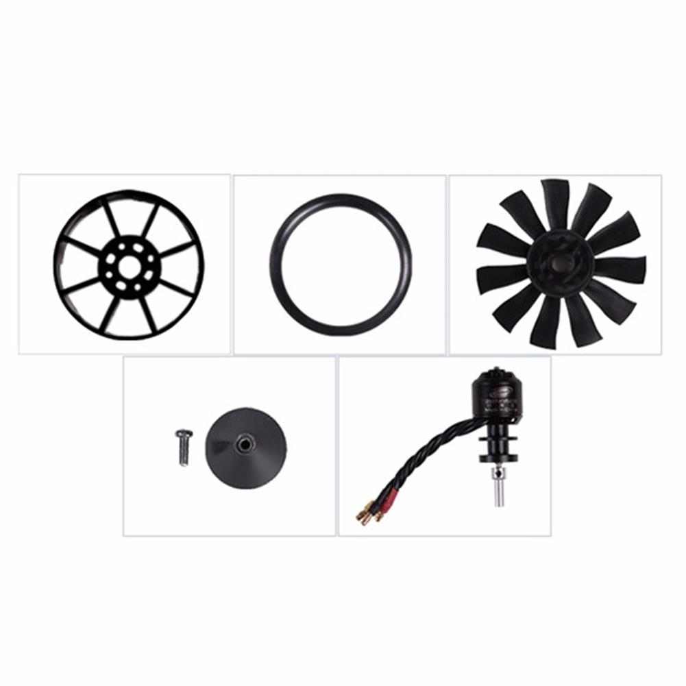 rc-airplane-parts FMS 50mm 11 Blades Ducted Fan EDF With 2627 KV4500 KV5400 3S 4S Brushless Motor RC1115809 6