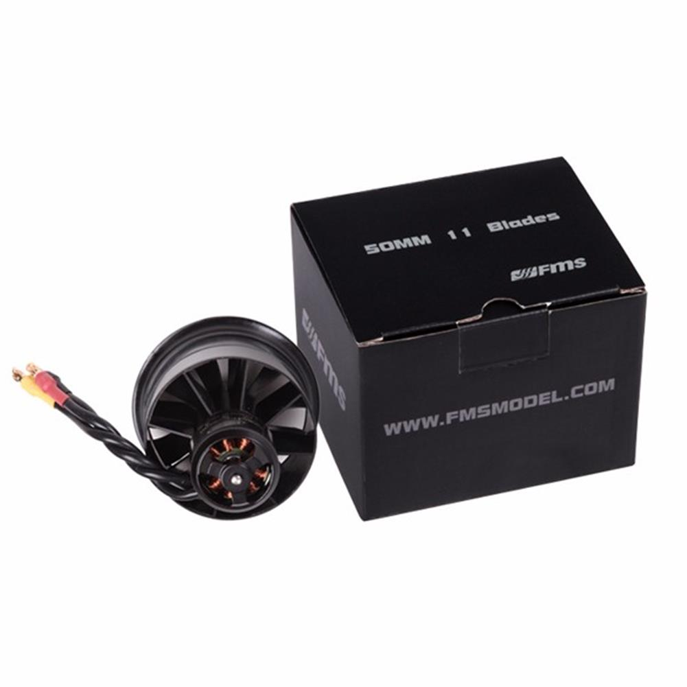 rc-airplane-parts FMS 50mm 11 Blades Ducted Fan EDF With 2627 KV4500 KV5400 3S 4S Brushless Motor RC1115809 7