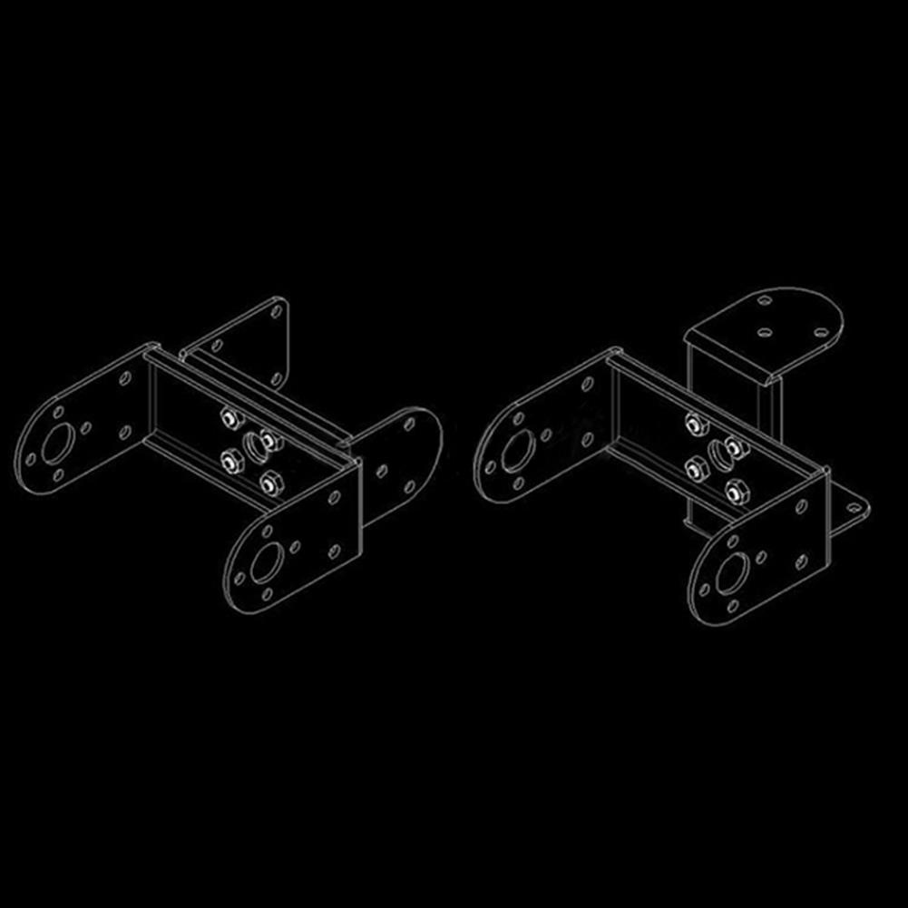 robot-parts-tools Multifunction 1.2mm Servo Bracket PTZ Robotic Manipulator DIY Robot Mount RC1128411 6