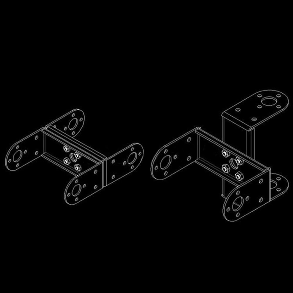 robot-parts-tools Multifunction 1.2mm Servo Bracket PTZ Robotic Manipulator DIY Robot Mount RC1128411 7