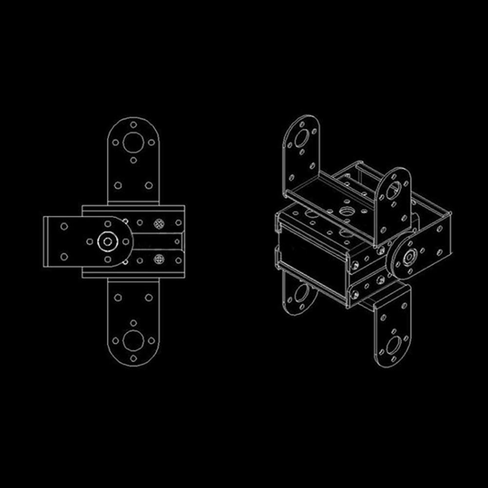 robot-parts-tools Multifunction 1.2mm Servo Bracket PTZ Robotic Manipulator DIY Robot Mount RC1128411 9