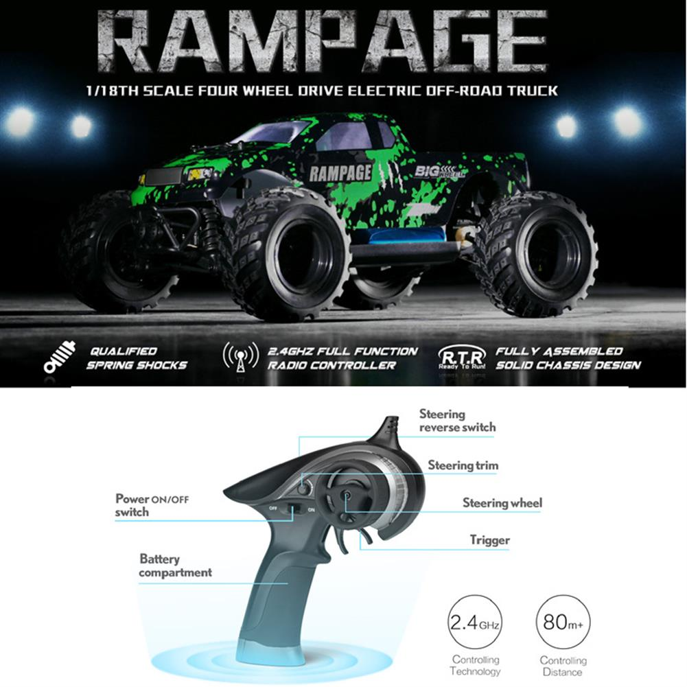 rc-cars HAIBOXING 18859E 1/18 2.4G 4WD 30KM/H Electric Powered Off Road Truck RC1170721 5
