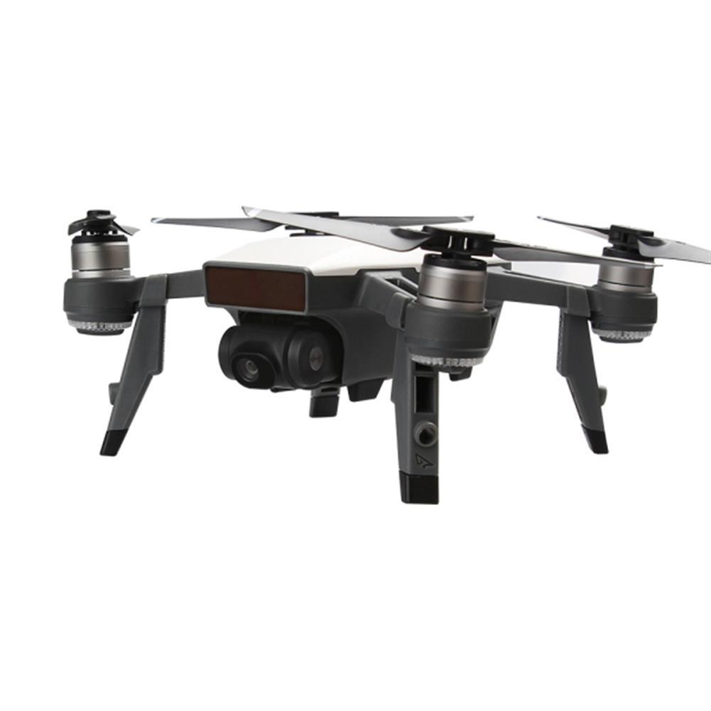 rc-quadcopter-parts-Rcgeek Extended Damping Landing Skids Landing Gear LED Headlamp Light Set For DJI Spark-RC1181539 4